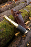 Telescope With Leather Pouch Brass