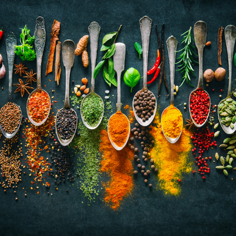 Herbs and spices as an essential element in the pantry