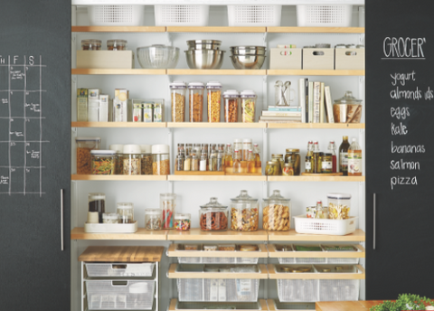Chak board as a style tip for home pantry decoration