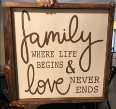 A quote signage for home decor