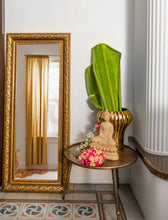 Load image into Gallery viewer, A Wall Mirror with a Metal Frame with details depicting antique carvings in an antique gold finish at an amazing price!
