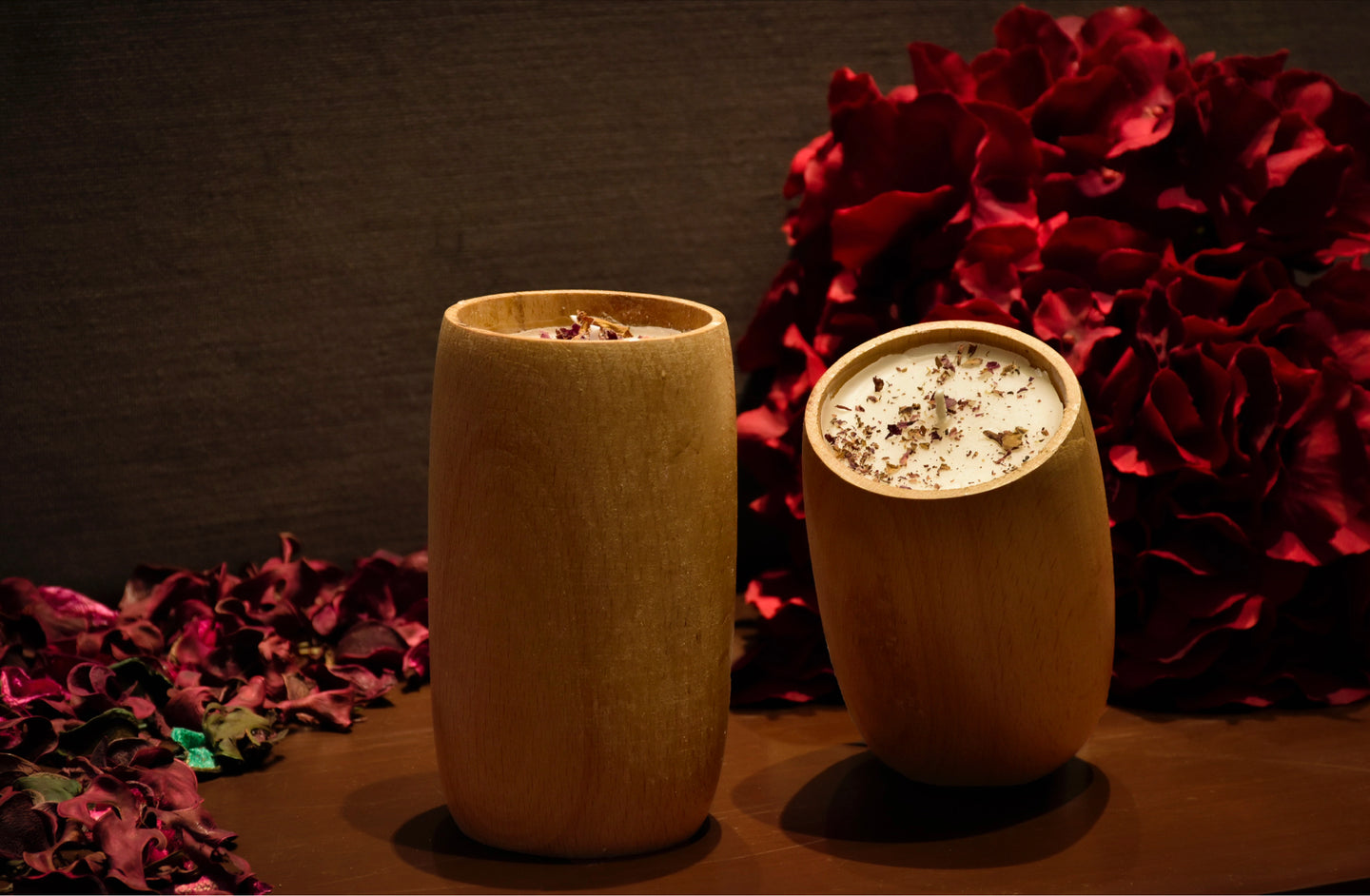 With the goodness of rose petals shining through the scent, these candles are handmade with love and are delightful to the senses.