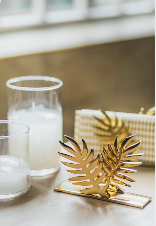 Gold Petal Tissue Holder