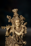 Lord Krishna Made with Marble Dust playing the flute for Diwali home decor