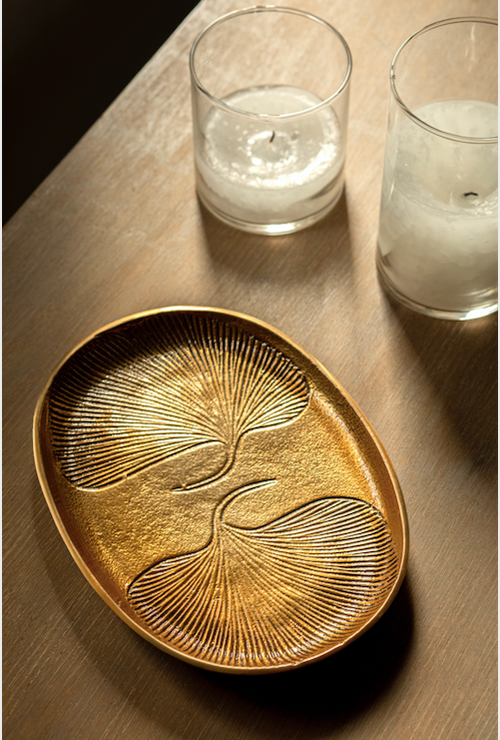 Embossed Oval Tray