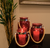 Carmine Glass Lanterns