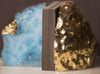 Oceanic Agate Bookends