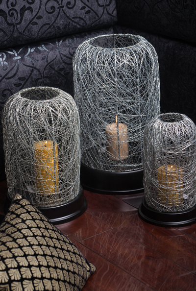 A collection of stunning & subtle candle stand set, made with recycled wires.