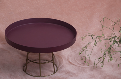 A gorgeous purple food stand with an aluminium stand which is a 100% food safe & rust free.