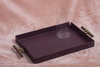 A gorgeous Purple Tray with Aluminium handles are 100% food safe and are rust free.