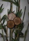 The coasters are made of 100% recycled wood and bring a slice of nature to your home.