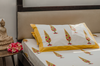 Brought to you from Rajasthan, this hand printed bed sheet is 100% cotton and look like sunshine on your bed!!
