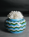 A blue and super cute planter\pot!!