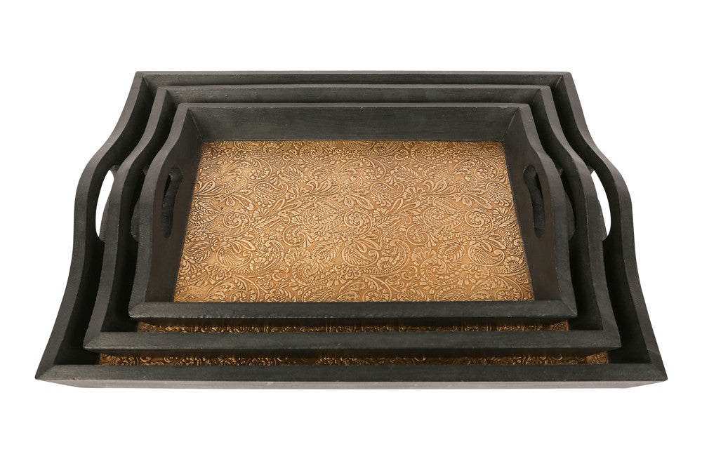 Brass Tray Set