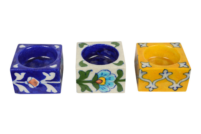 Tea Light Candle Holders, Made of ceramic & comes under Blue Pottery