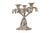 Silver Palm Tree Candle Stand with provisions of three candles, with authentic silver!!