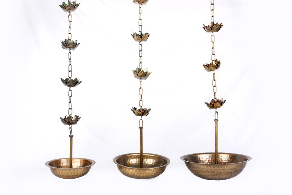 Brass Lotus Hanging