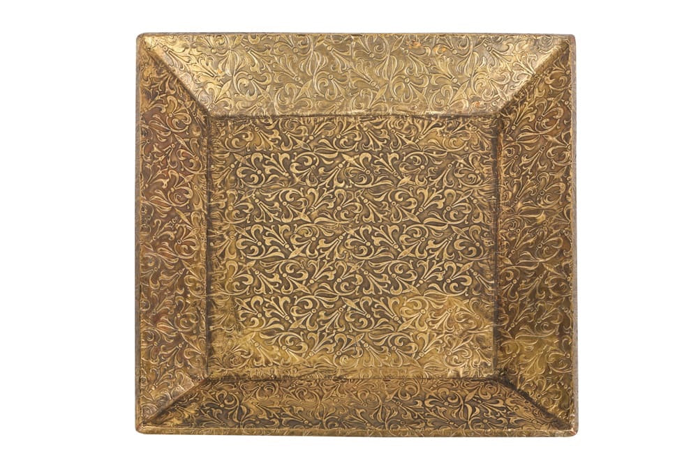 Brass inlay tray