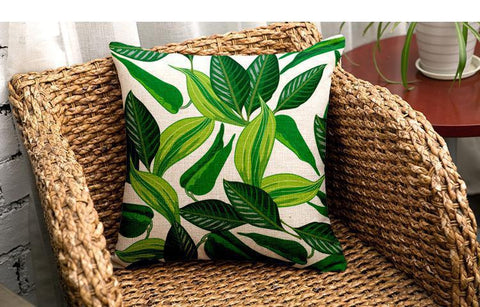 Fresh Greenery Cushion Cover