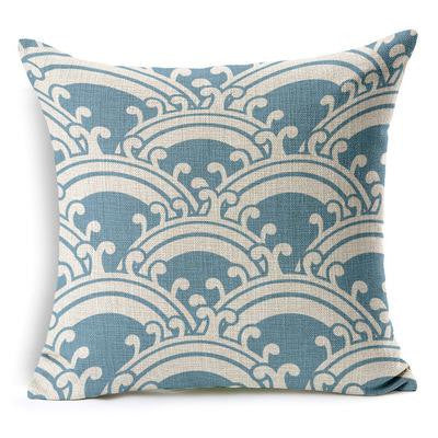 Blue Ripples Pillow Sham