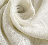White Cotton Texture Cloth Curtain