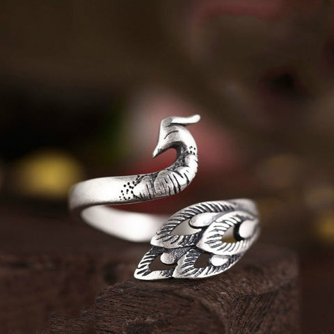 Peacock Wrap Ring