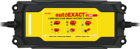 Automotive Intelligent Digital Charger and Maintainer 1.5 AMP Smart Car Battery Charger, DHC AE150 - Oricol Imports