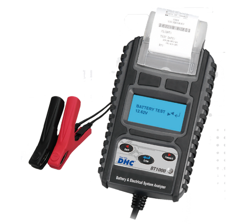 Automotive Car Digital Battery Charging & Starting System Tester with Printer. DHC BT1000 - Oricol Imports