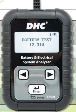 DHC BT400. 12V Battery / 12V START-STOP Battery test 12V & 24V Charging/Starting system test Internal Resistance Value