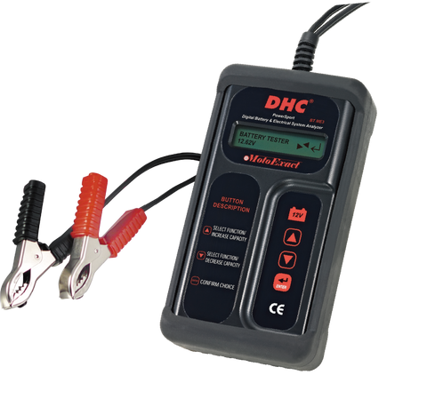 Automotive Digital Battery Charging and Starting System tester for Motorcycle's, DHC BTME3 - Oricol Imports