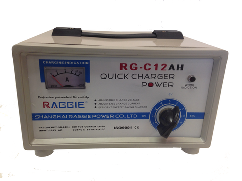 Automotive Charger Raggie Quick Charger 12AH Smart Car Battery Charger, RG-1086 RGC-12Ah - Oricol Imports