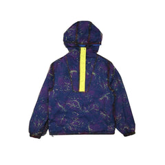 REVERSIBLE FISH CAMO NYLON JACKET/BLUE