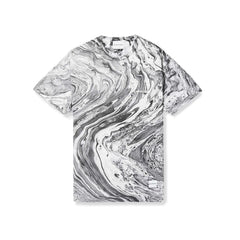 MABLE TEE (BLACK/WHITE MARBLE)