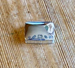Silver rectangular pill box