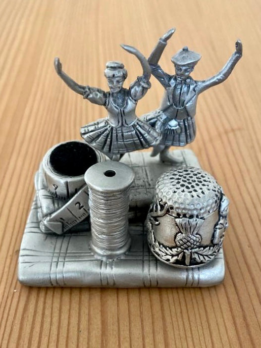 Vintage gift set - Scottish dancers sewing station