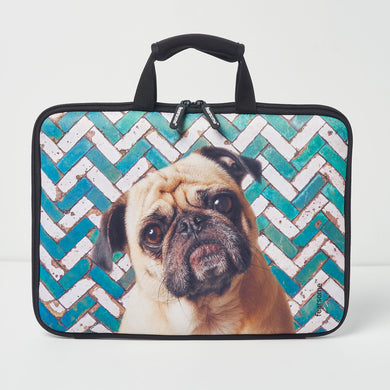 Jungle Laptop Bag - Mosaic Pug