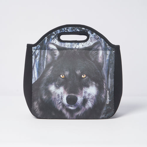 Into The Wild Lunch Bag - Dark Wolf