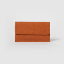 Button Up Wallet - Tan