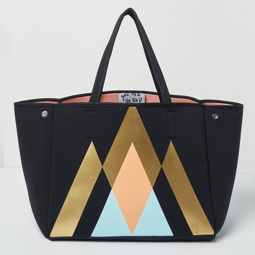 Byron Bag - Geometric Black