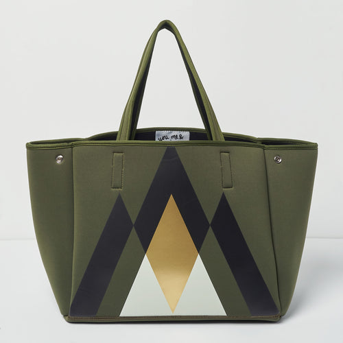 Byron Bag - Geometric Khaki