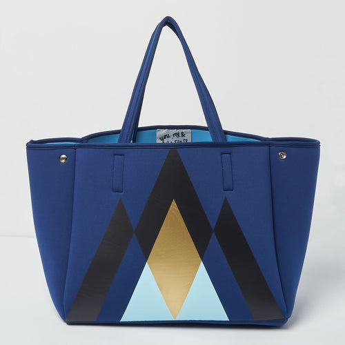 Byron Bag - Geometric Navy