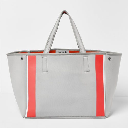 Byron Bag - Grey/Red