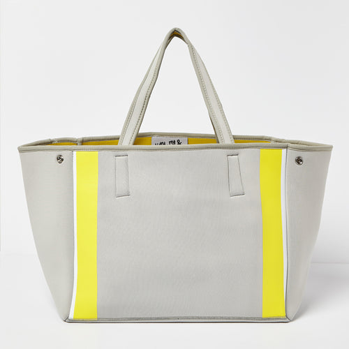 Byron Bag - Grey/Yellow