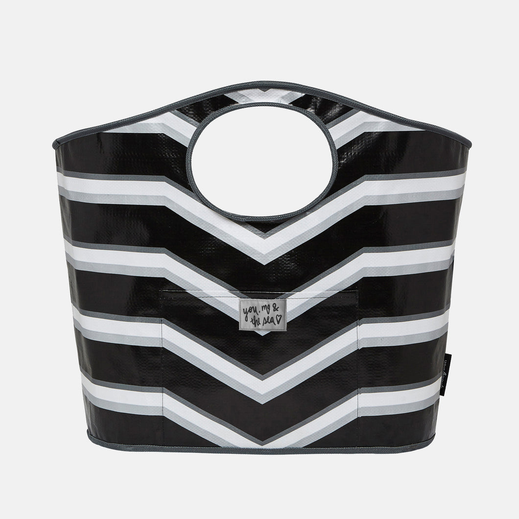 Carry All Bag Stripe - Black - Urban Originals Australia