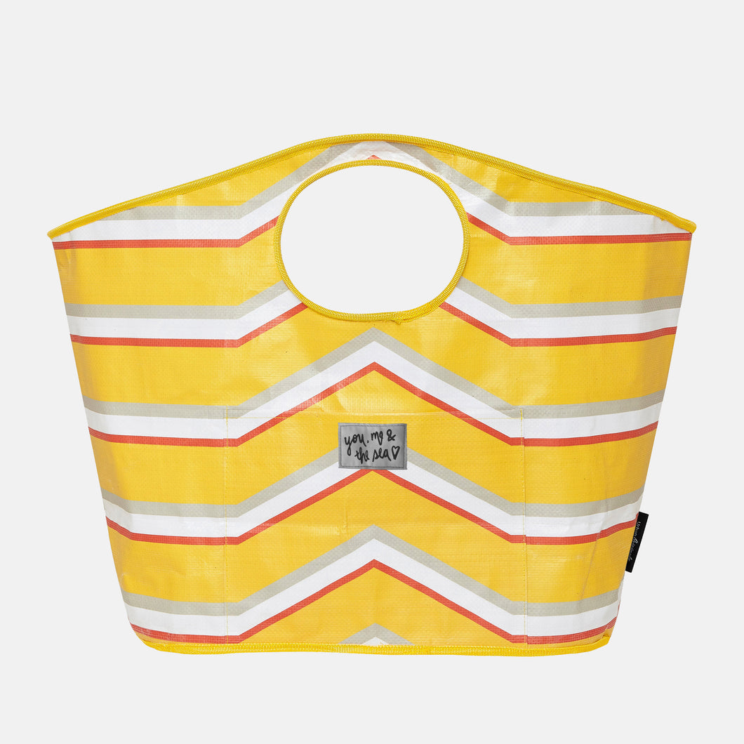 Carry All Bag Stripe - Yellow - Urban Originals Australia