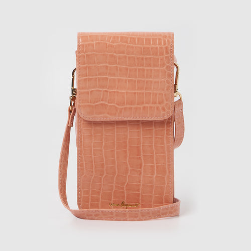 Crocodile Phone Wallet - Pink