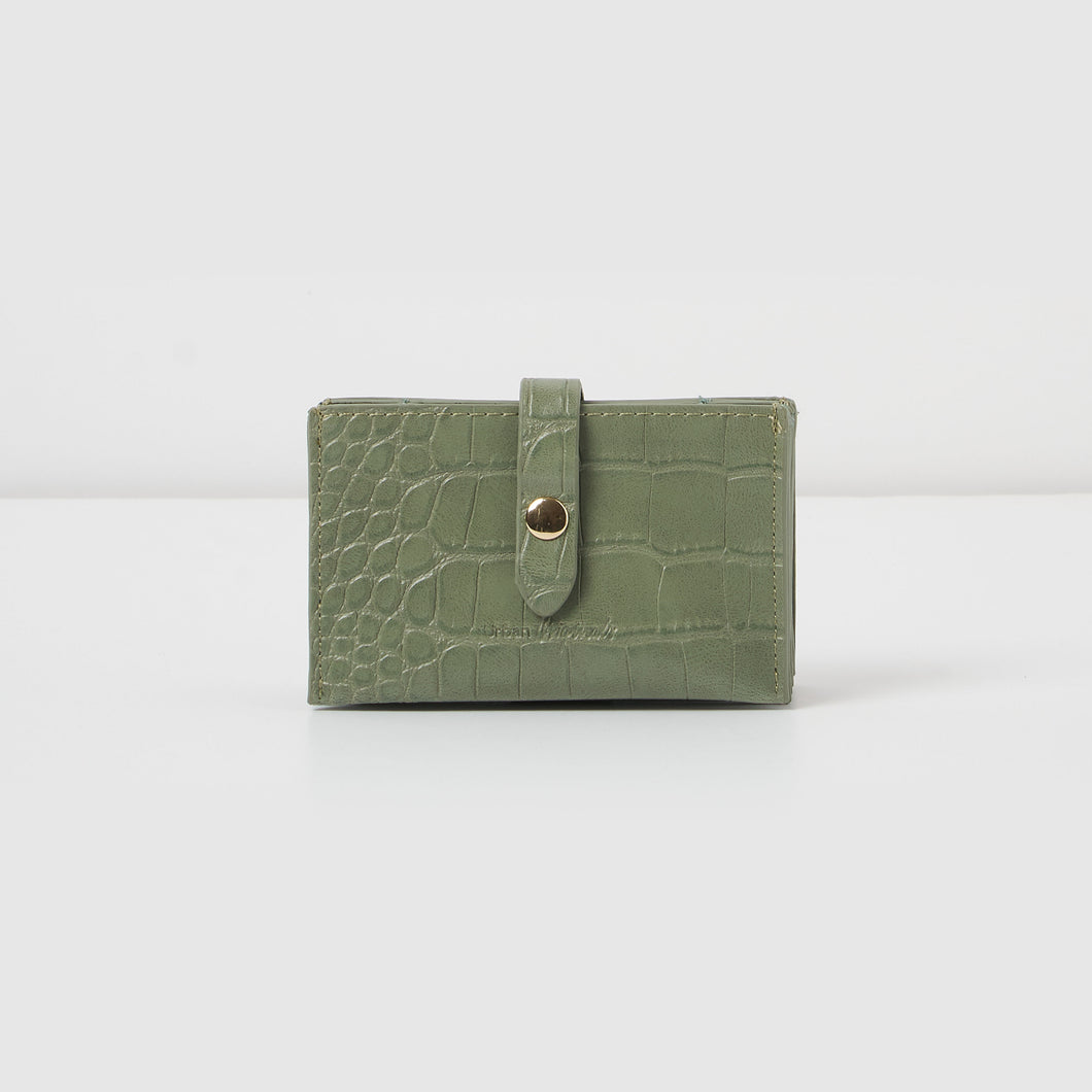 Faith Wallet - Green Croc