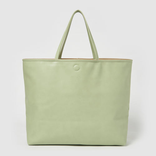 Flipside Tote - Green/Nude