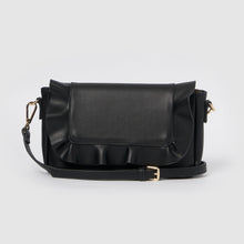 Frill Vegan Clutch - Black