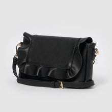 Frill Vegan Clutch by Urban Originals - Black
